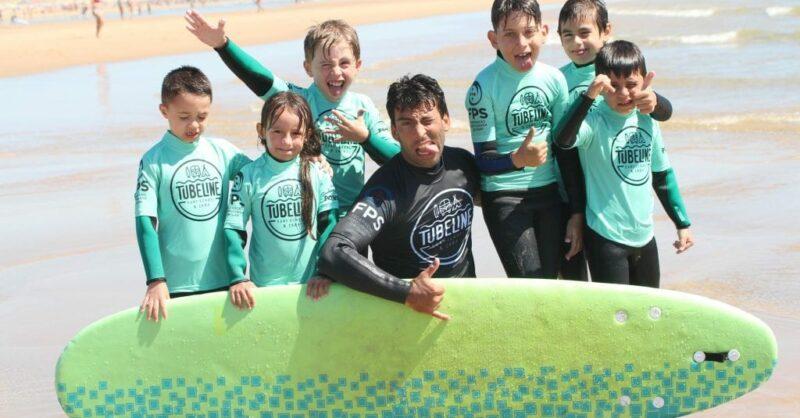 tubeline surf school férias verão