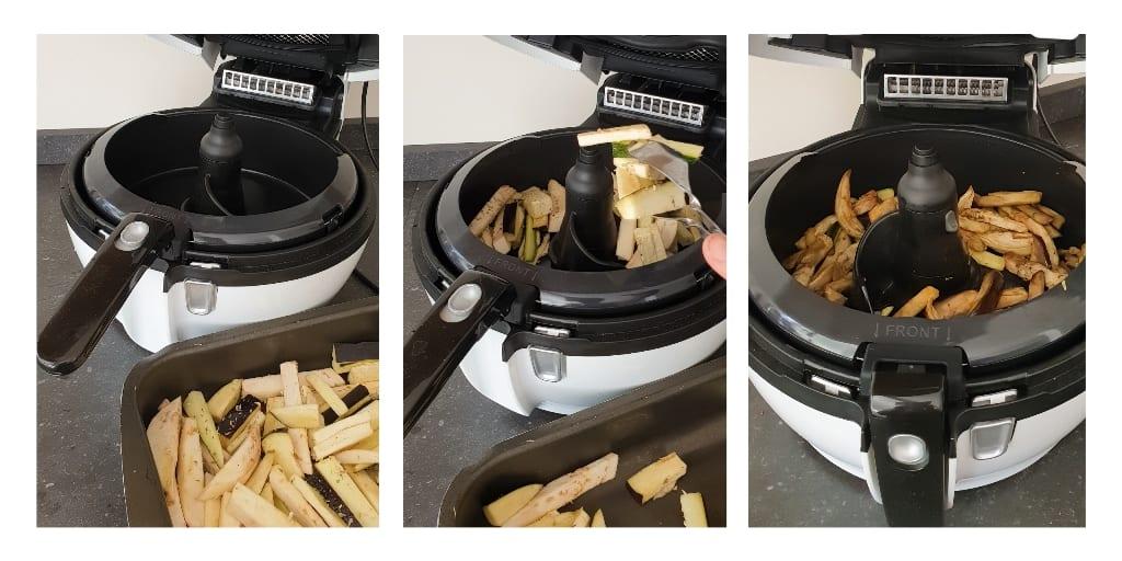 Chips de vegetais tefal actifry passo a passo