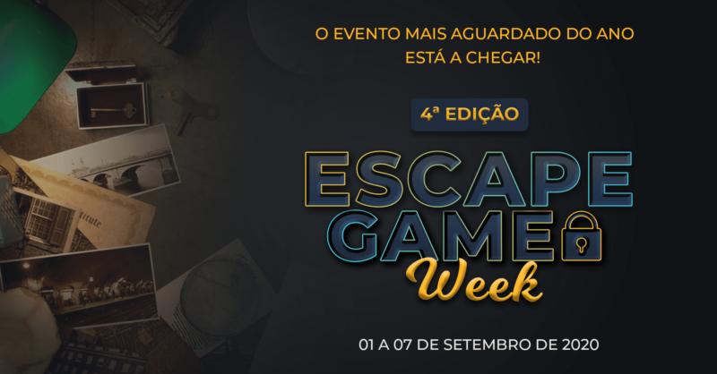 4.ª edição Escape Game Week – O evento mais aguardado do ano!