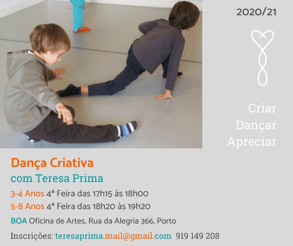 Aulas de Dança Criativa 2020-21