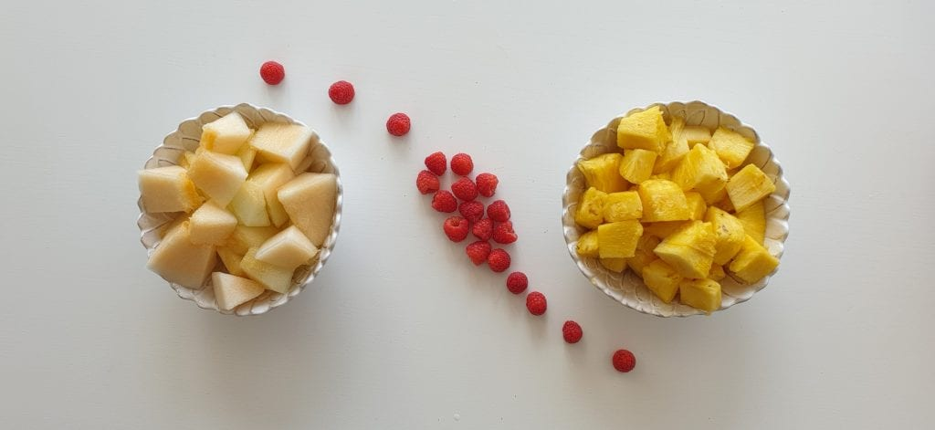 Sumo ananas melão e framboesa