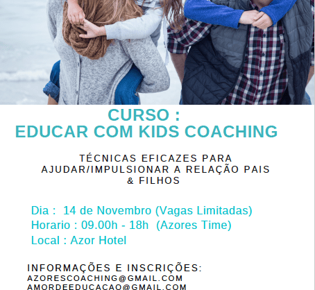 Curso Educar com Kids Coaching nos Açores