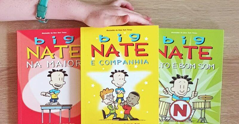 """Passatempo: os primeiros três volumes da coleção """"Big Nate"""""""