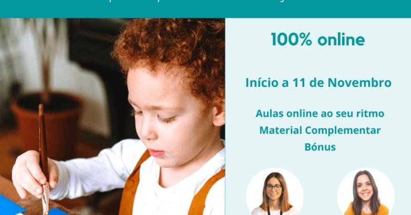 Curso Online 'Motricidade Fina da Criança: o que esperar e como ajudar'