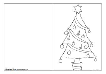 postais de natal para colorir 1