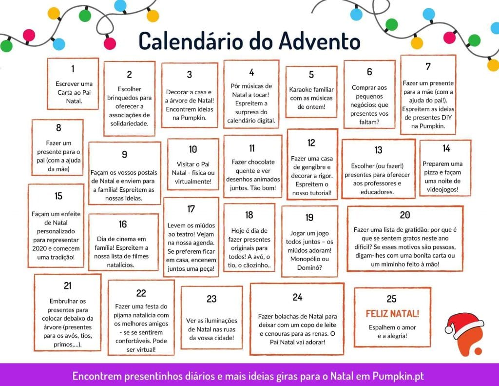 Calendário do Advento Pumpkin