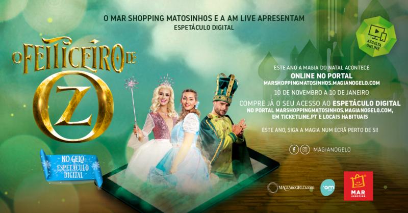 O Feiticeiro de Oz no Gelo Online na sua casa com o MAR Shopping!