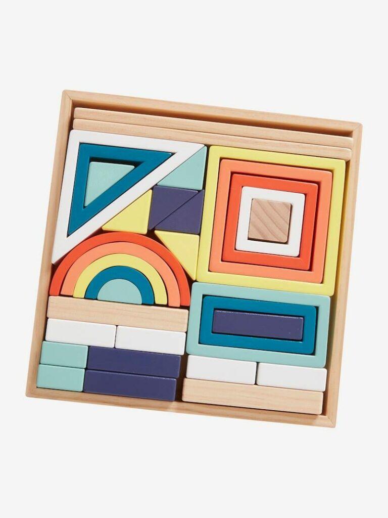 blocos de construção de madeira