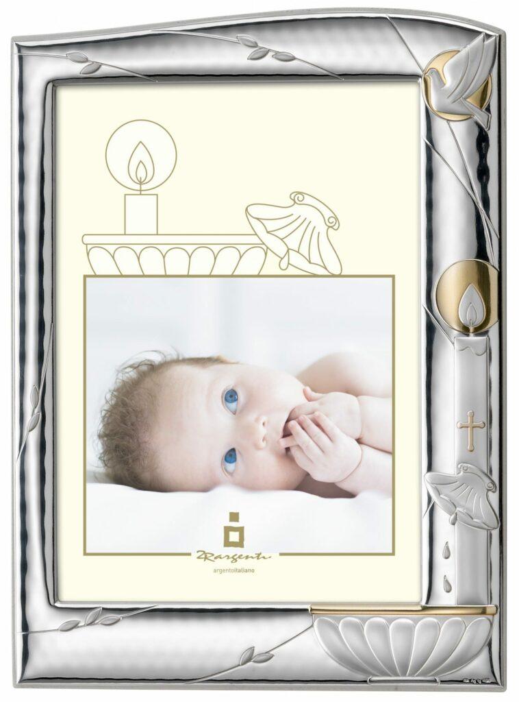 moldura de prata batismo