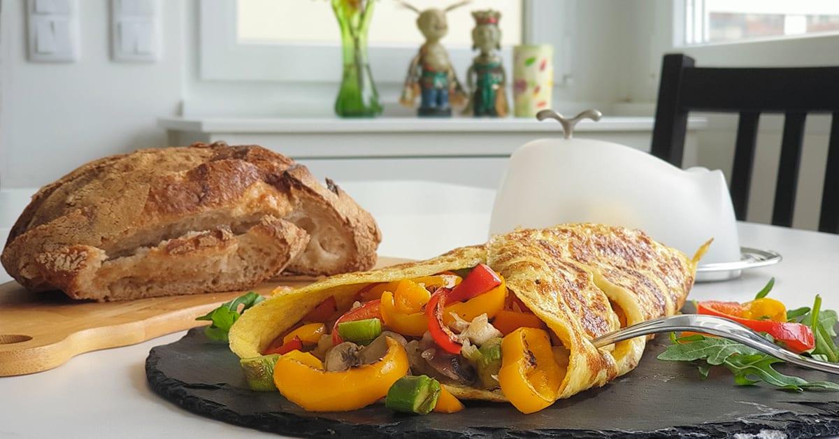 omelete com vegetais deliciosa