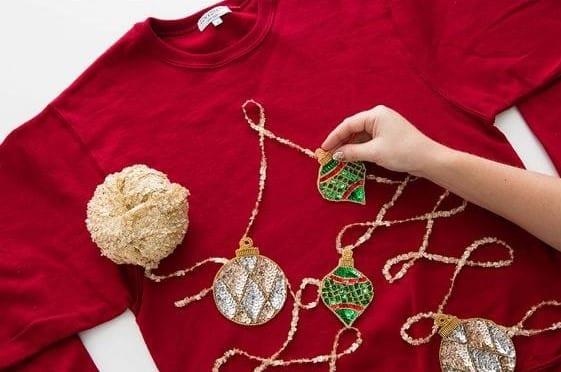 como fazer camisola de natal