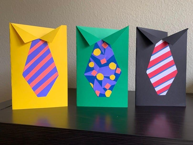 postais para o dia do pai gravatas