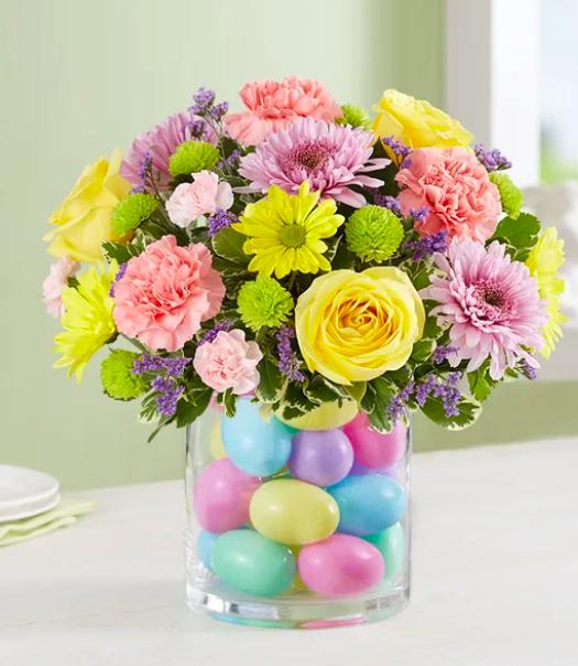 decoração de páscoa flores