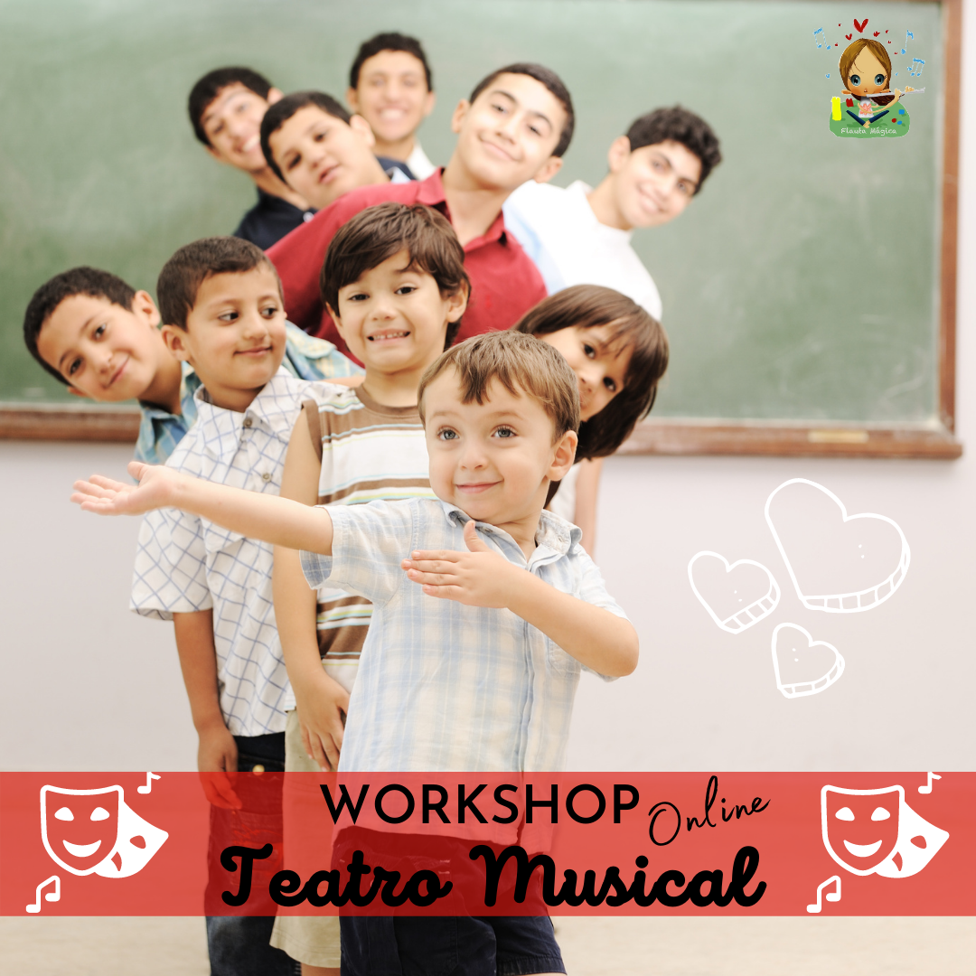 Workshop Online de Teatro Musical – dos 6 aos 10 anos