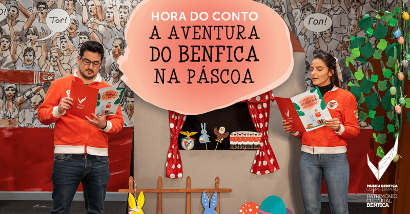 Hora do Conto Online: A Aventura do Benfica na Páscoa