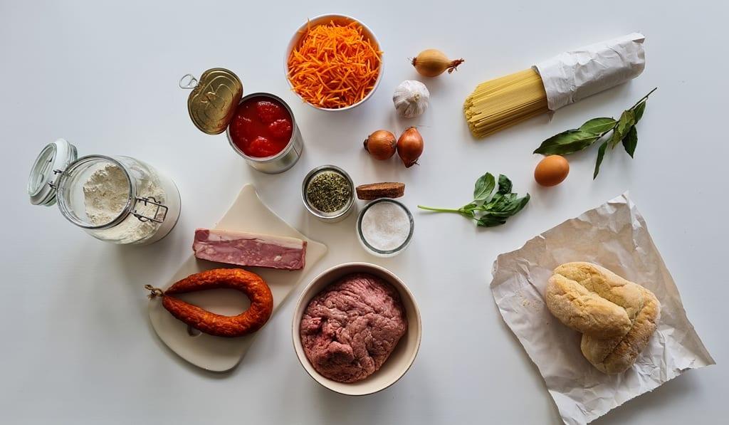 Almondegas - ingredientes