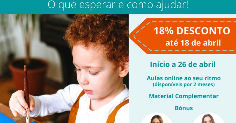 3ª Edição Curso Online 'Motricidade Fina da criança: o que esperar e como ajudar'