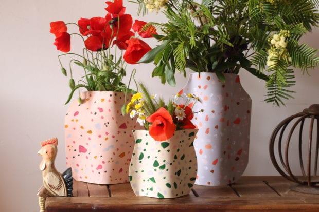 jarra de flores dia da mãe