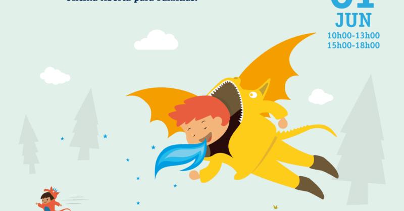Dia Mundial da Criança: Brincamos Como Dragões – Oficina Aberta p/Famílias