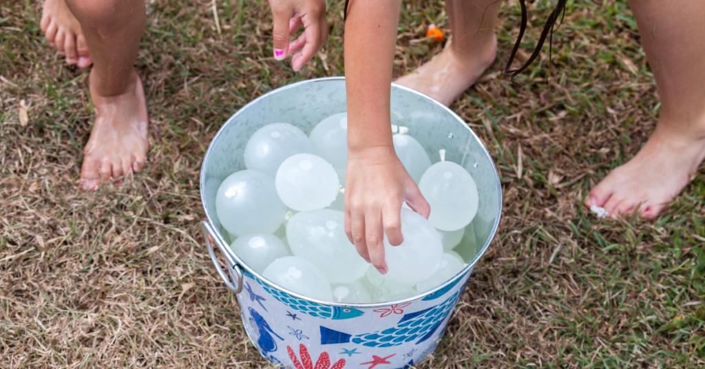 balões de água refrescar