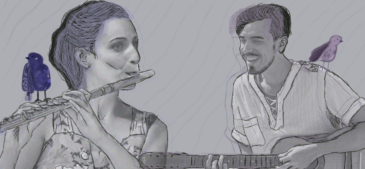 Música de brincar – Línguas daqui línguas de lá com Gui Calegari e Elena La Conte