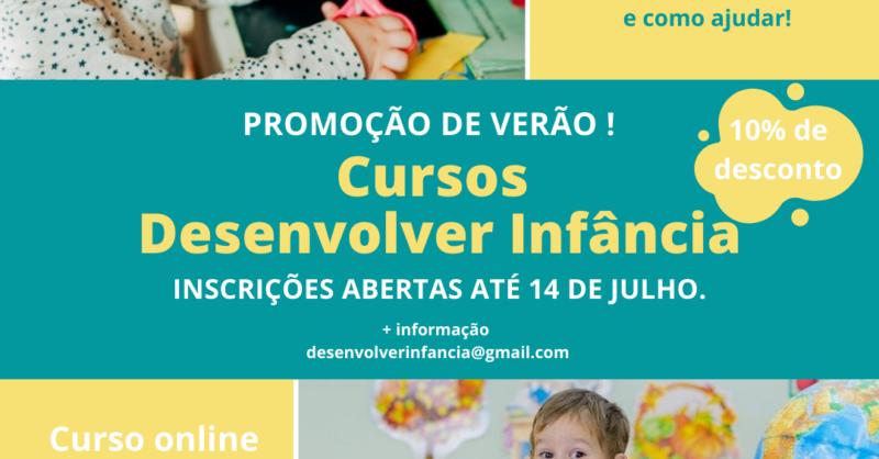 Cursos Online Desenvolver Infância em Promoção de Verão!