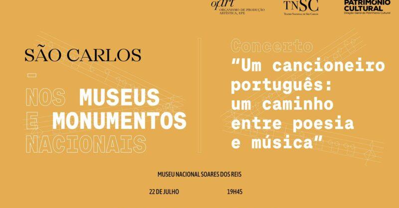 """Concerto """"Um Cancioneiro Português Um caminho entre poesia e música"""""""