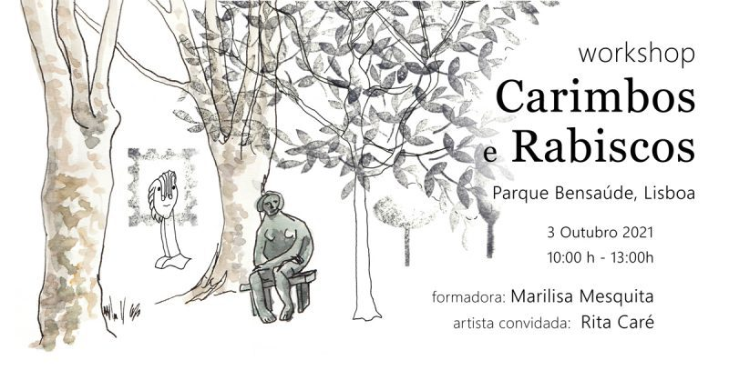 Workshop Carimbos e Rabiscos no Parque Bensaúde, Lisboa