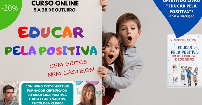"""Curso online """"Educar pela Positiva: sem gritos nem castigos"""""""