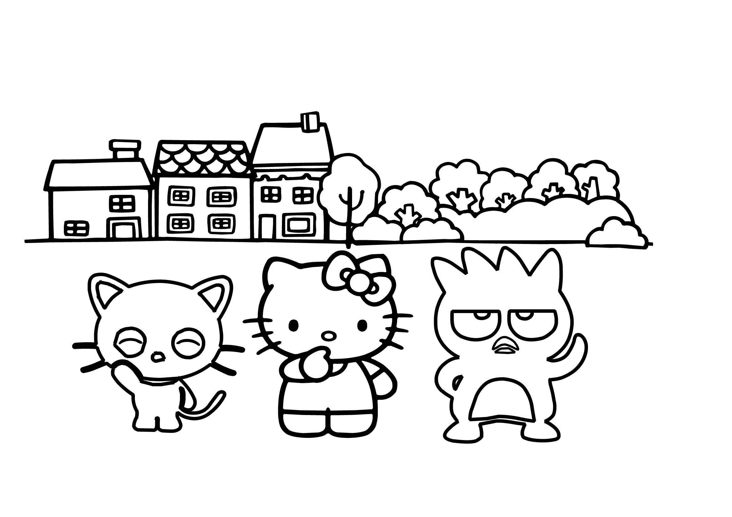 Desenho Da Hello Kitty E Amigos Para Colorir Desenho