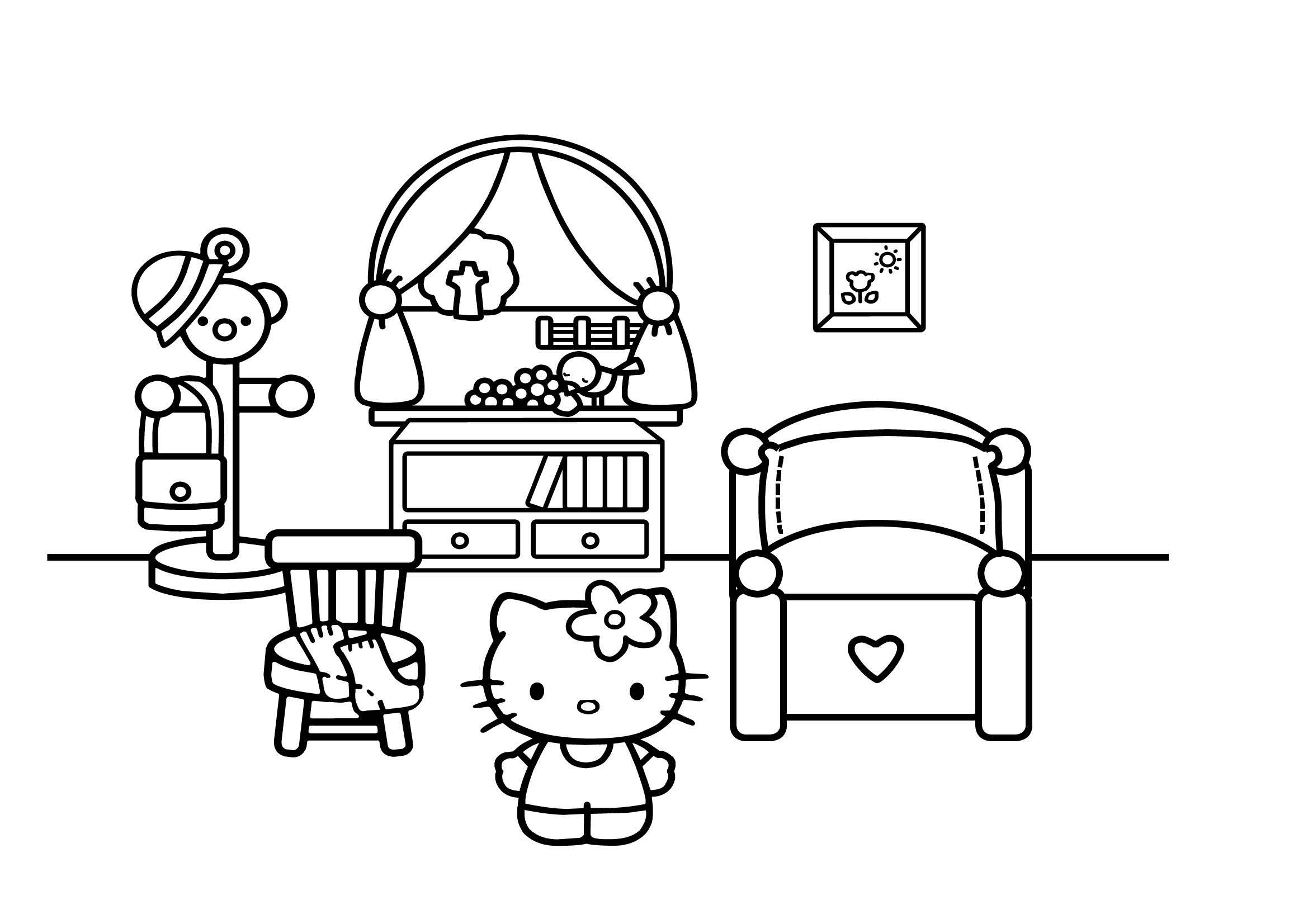 Desenho Para Pintar Da Hello Kitty No Seu Quarto Pumpkin Pt