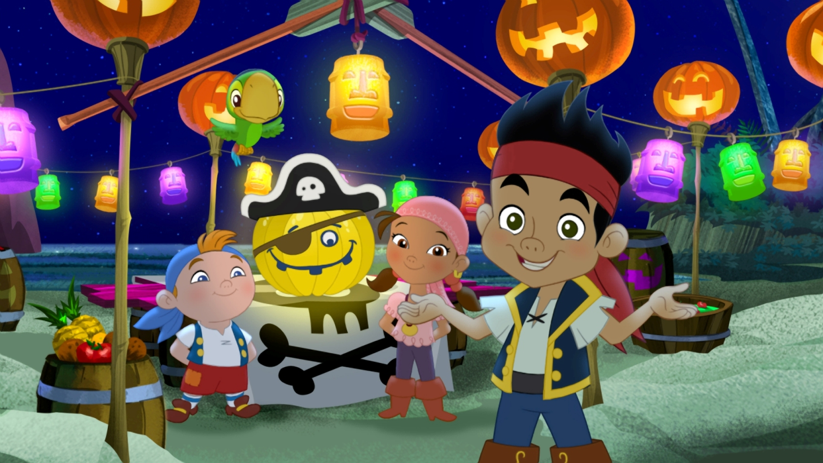 Jake e os Piratas da Terra do Nunca- Programação Halloween do Disney Junior