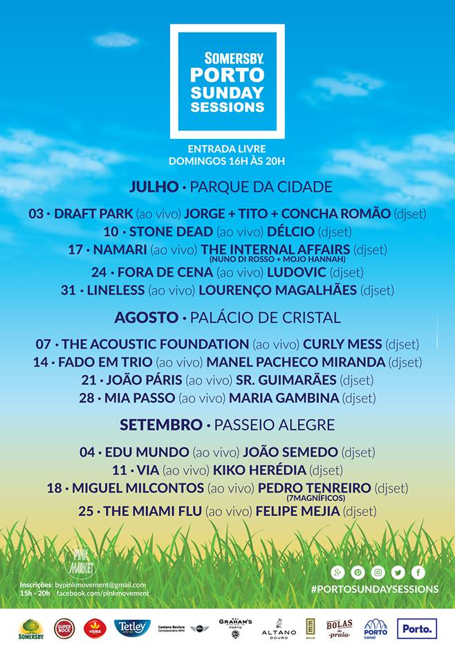 Porto Sunday Sessions - concertos gratuitos no Porto