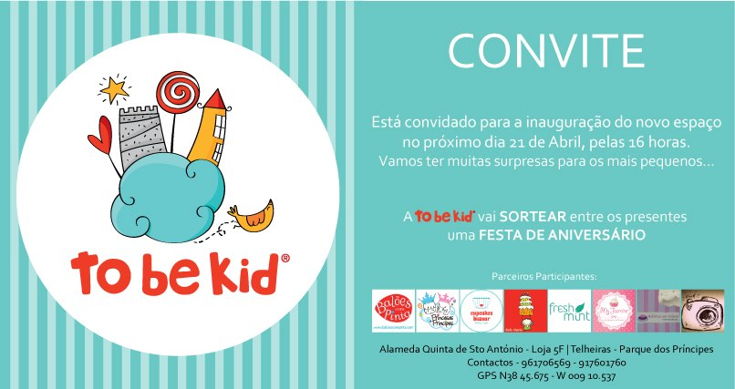 To Be Kids Convite